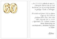 Einladungskarten, Einladung 80. Geburtstag