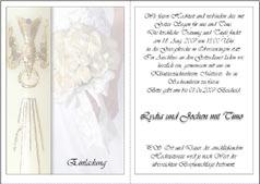 ... zur Hochzeit, zur Silberhochzeit, zur Goldenen Hochzeit, Einladung
