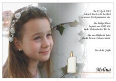 Einladungskarte Zur Erstkommunion, Einladungskarte Zur Erstkommunion