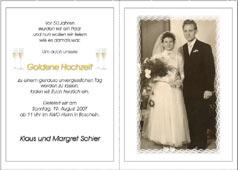 Einladungskarten Zur Hochzeit Silberhochzeit Goldenen